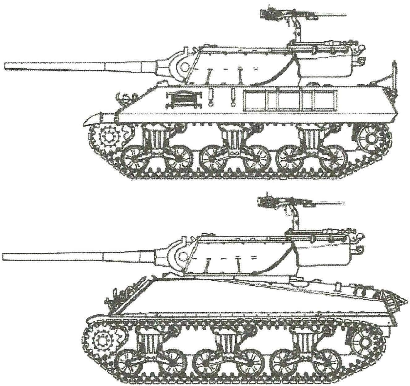 САУ М36 и модификация М36В1