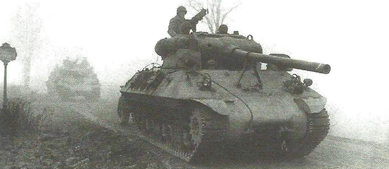 Column ACS M36 advances in the area of concentration. 703 St battalion of tank destroyers of the 2nd Panzer division. Werbomont, Belgium, 1944