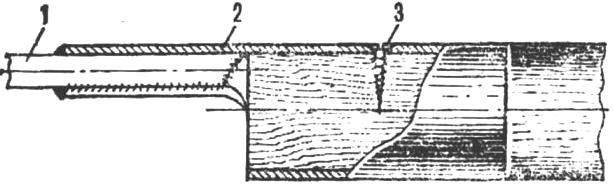 Рис. 2. Сварное соединение рыхлителя с ручкой