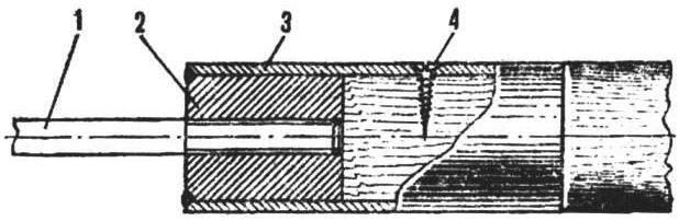 Рис. 3. Резьбовое соединение рыхлителя с ручкой