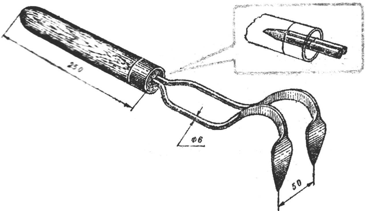 Рис 4. Двухкрючковый рыхлитель.