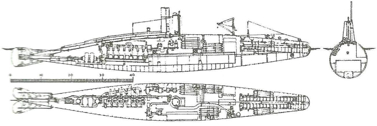Подводная лодка А-2. Англия, 1904 г.