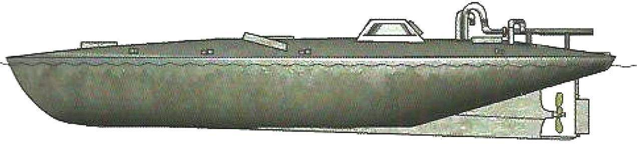 Полупогруженная лодка (по американской классификации - Bigfoot II), захваченная береговой охраной США, Колумбия, 2008 г.