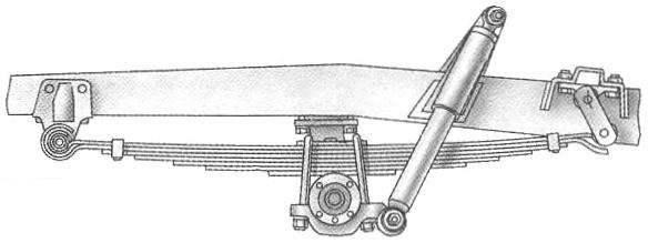 УАЗ-3151 — вариант рессорной передней подвески