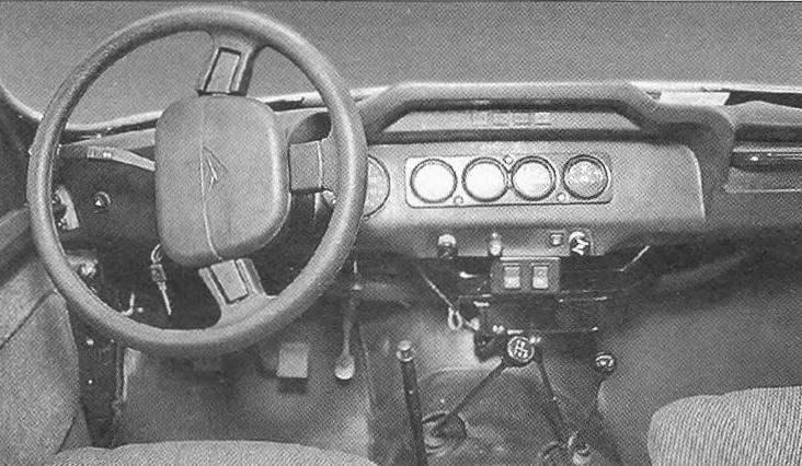 Рабочее место водителя автомобиля УАЗ-3151