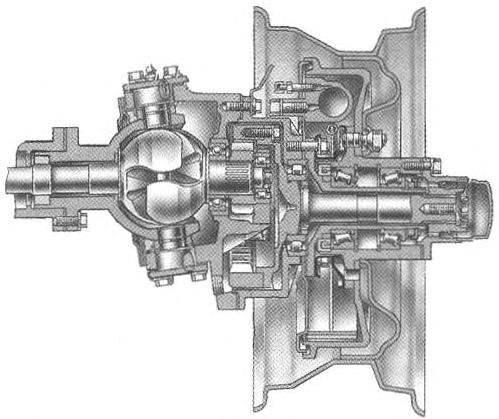 Устройство переднего моста с бортовыми редукторами автомобиля УАЗ-3151