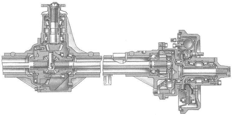 Задний мост внедорожника с бортовыми редукторами