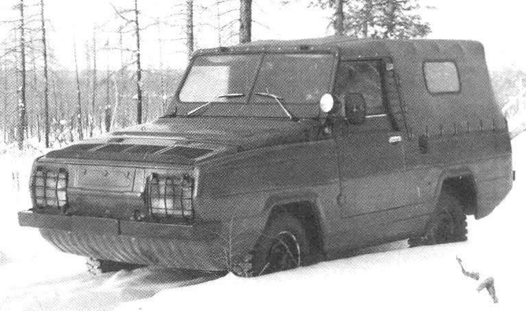 UAZ-3907 — experimental floating car on the basis of units UAZ-469