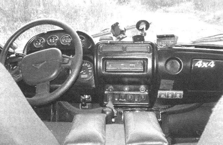 The front of the cabin of the jeep UAZ HUNTER