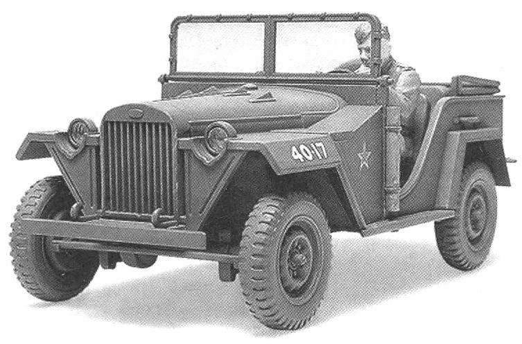GAZ-67B — grandpa army jeep UAZ-469