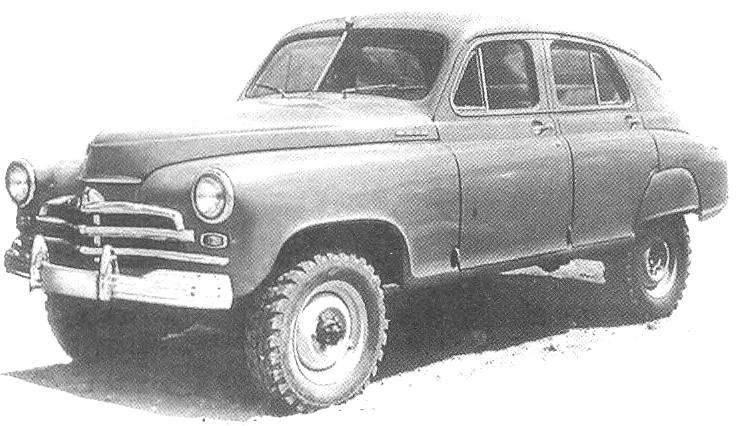 GAZ-M72 — hybrid army GAZ-69 and civilian
