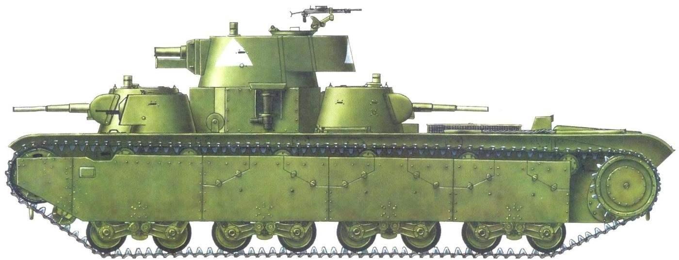 Тяжёлый танк Т-35 из состава 68-го танкового полка 34-й танковой дивизии 8-го механизированного корпуса. Юго-Западный фронт, июнь 1941 г.
