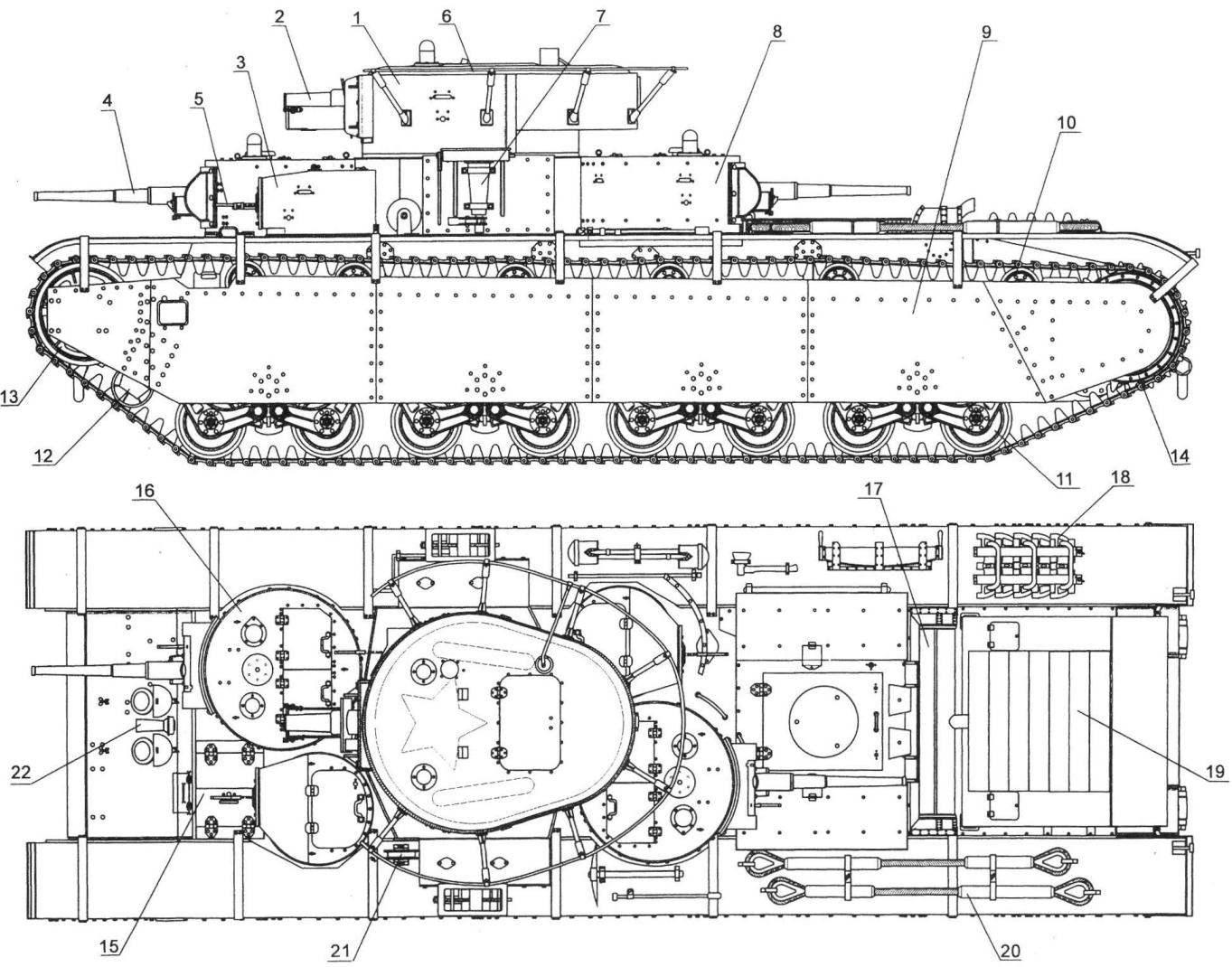 Heavy tank T-35-release of 1936