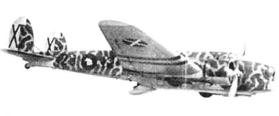 Бомбардировщик FIAT BR.20 Cicogna из 230-й эскадрильи итальянского легиона в небе Испании. 1938 г.