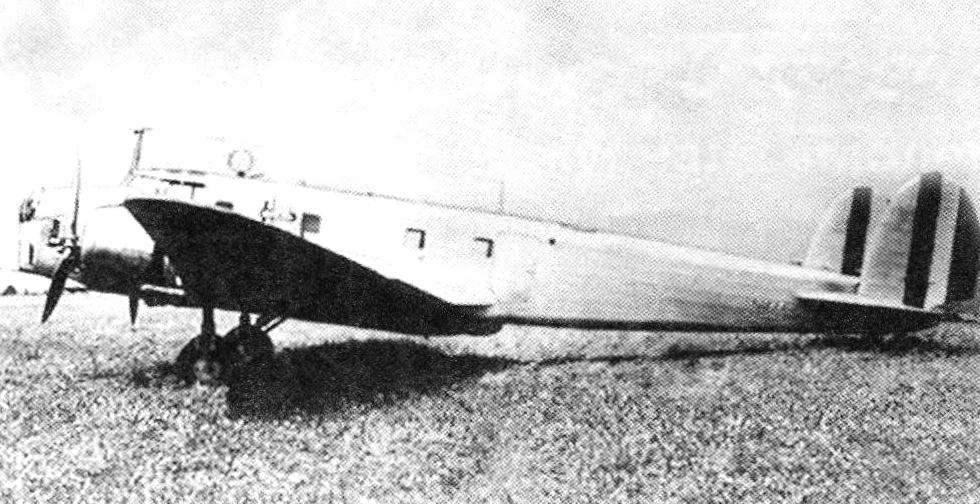 Опытный экземпляр FIAТ BR.20 итальянских ВВС в «гражданской» окраске. 1936 г.