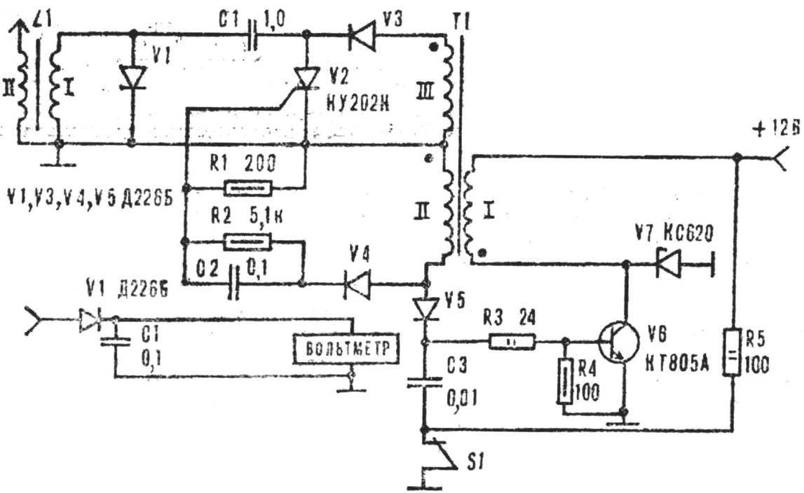 Fig. 1. Schematic diagram of the electronic ignition.