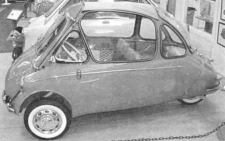 Tricycle Heinkel-kabine — car-twin BMW ISETTA