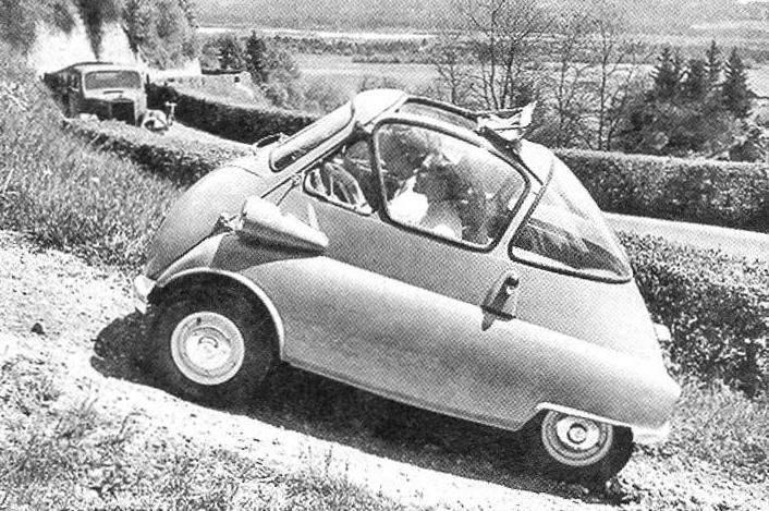 Несмотря на маломощный двигатель и колёса небольшого диаметра, ISETTA неплохо «чувствовала» себя и на просёлке