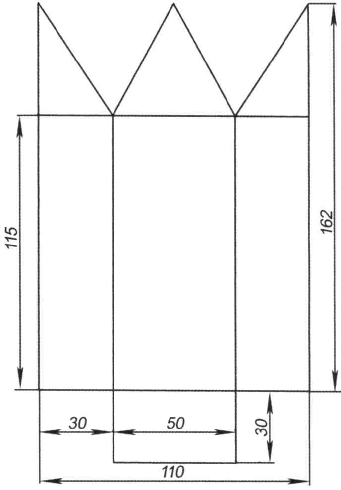 Развёртка для изготовления корпуса парового катера