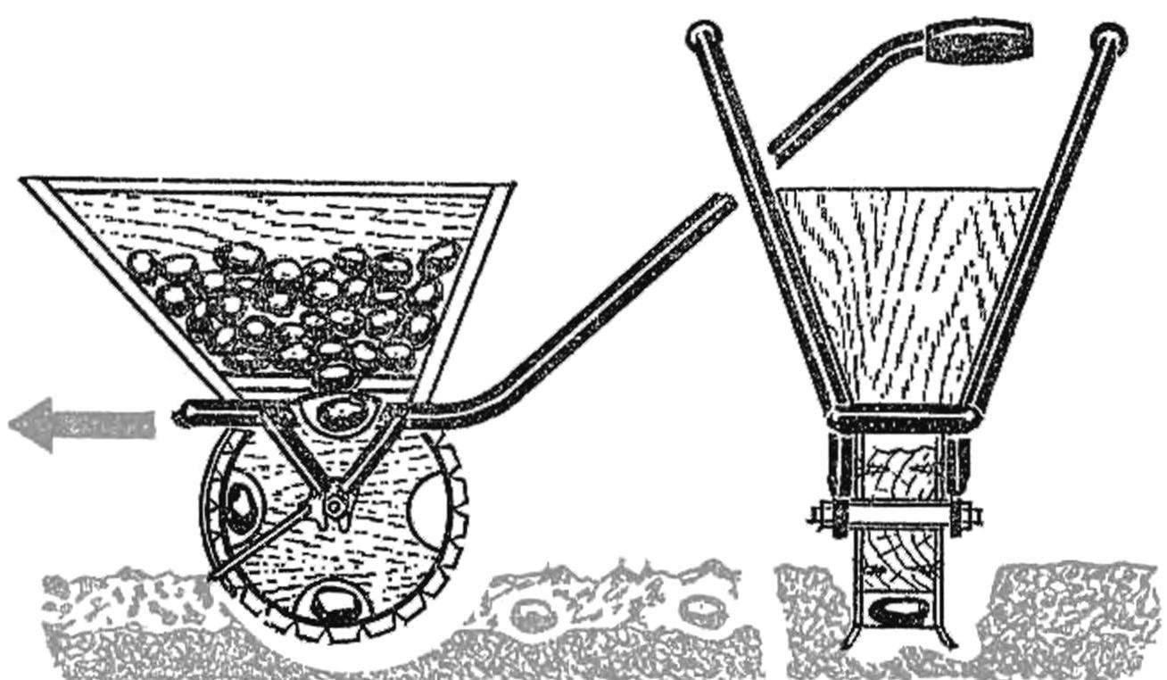 Ручная картофелесажалка ручная своими руками