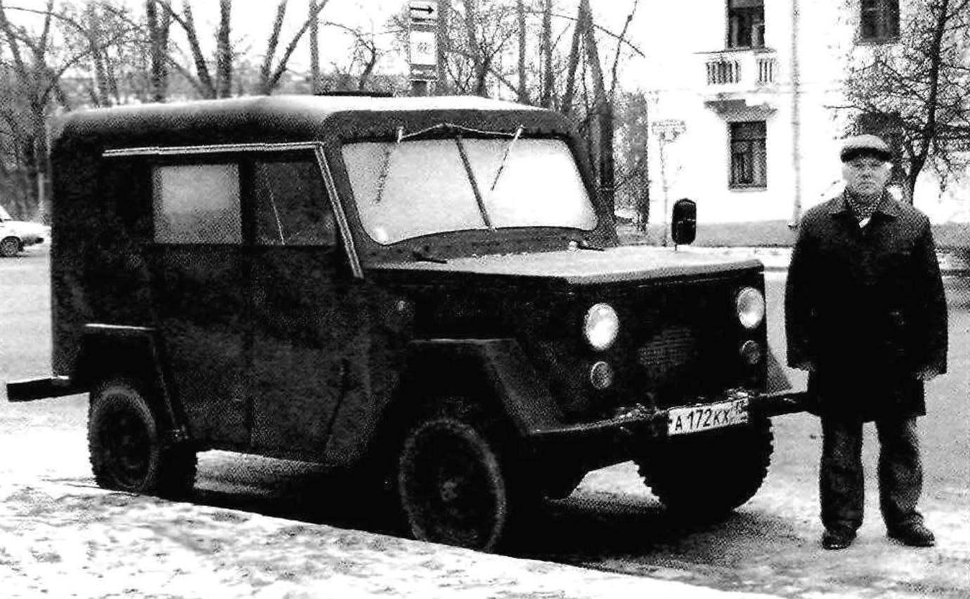 Автор Н.Н.Гордеев со своей машиной