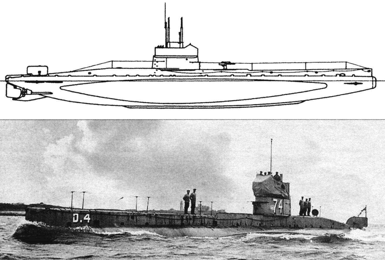 Подводная лодка D-4, Англия, 1909 г.