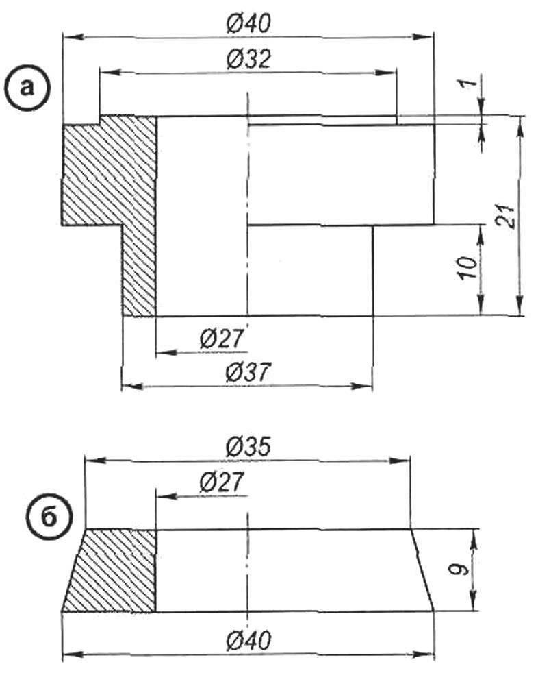 Элементы крепления дисковых пил