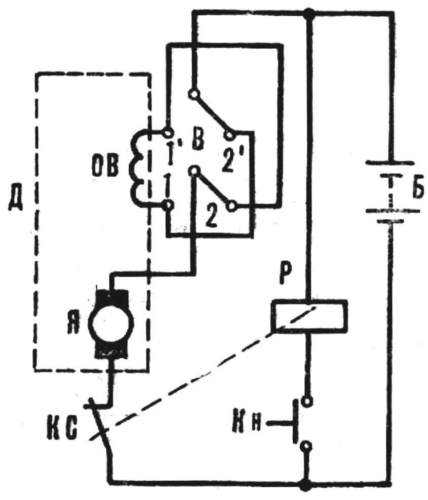 Рис. 4. Принципиальная схема электрооборудования карта.