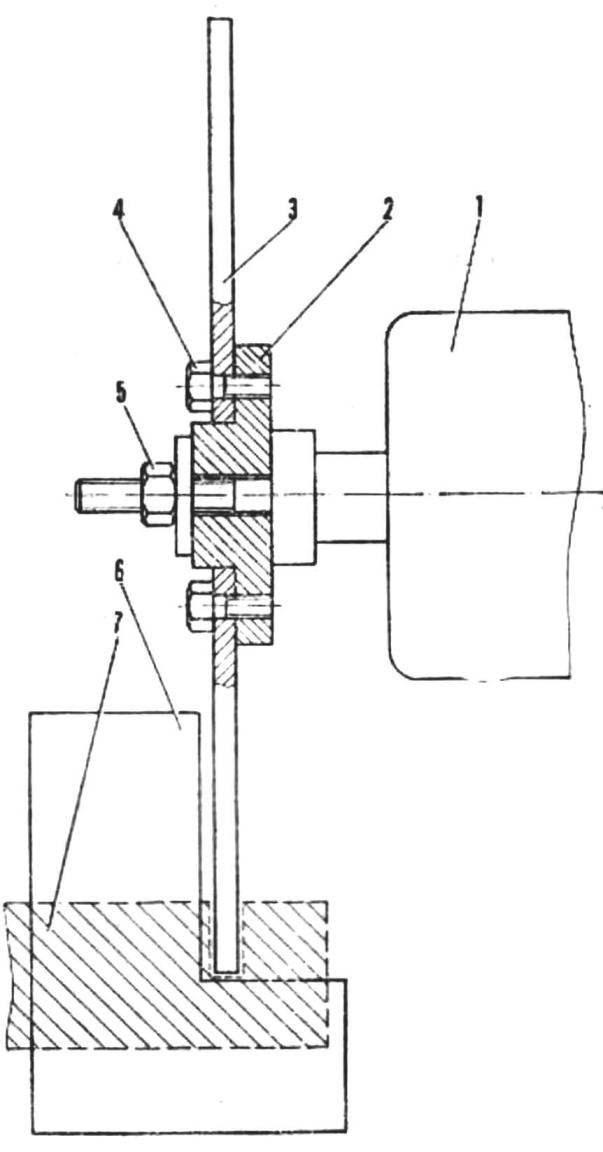 Схема крепления режущего диска к электродвигателю