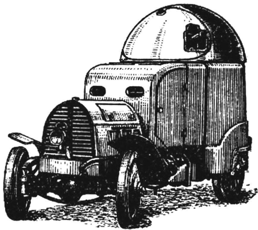 Бронеавтомобиль со всеми ведущими колесами фирмы «Австро-Даймлер» (Австрия, 1903 г.).