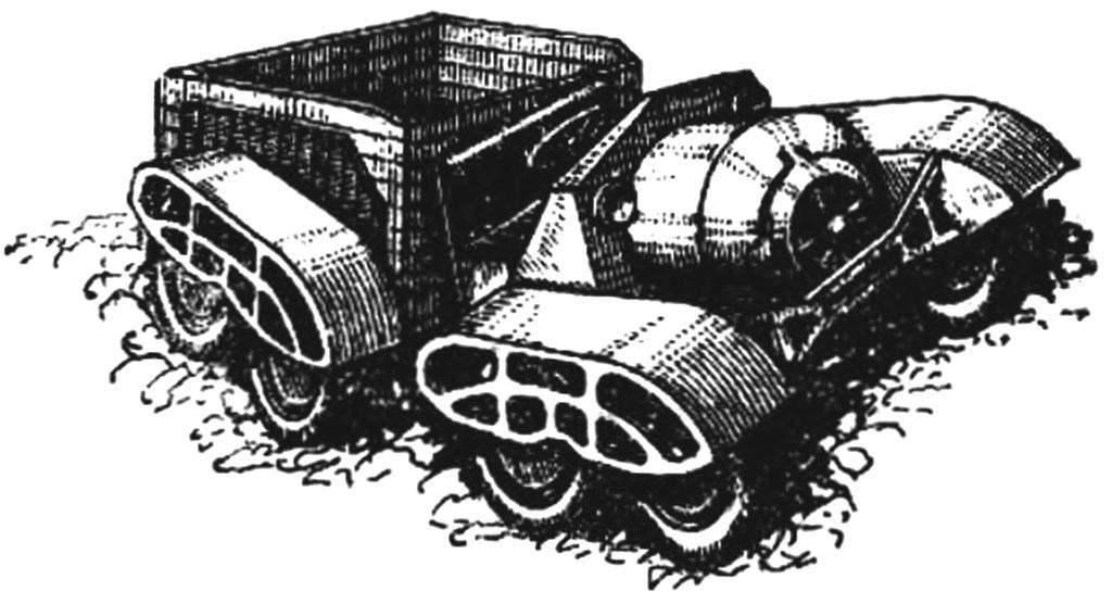 Опытный сочлененный грузовик (Англия, 1933 г.).