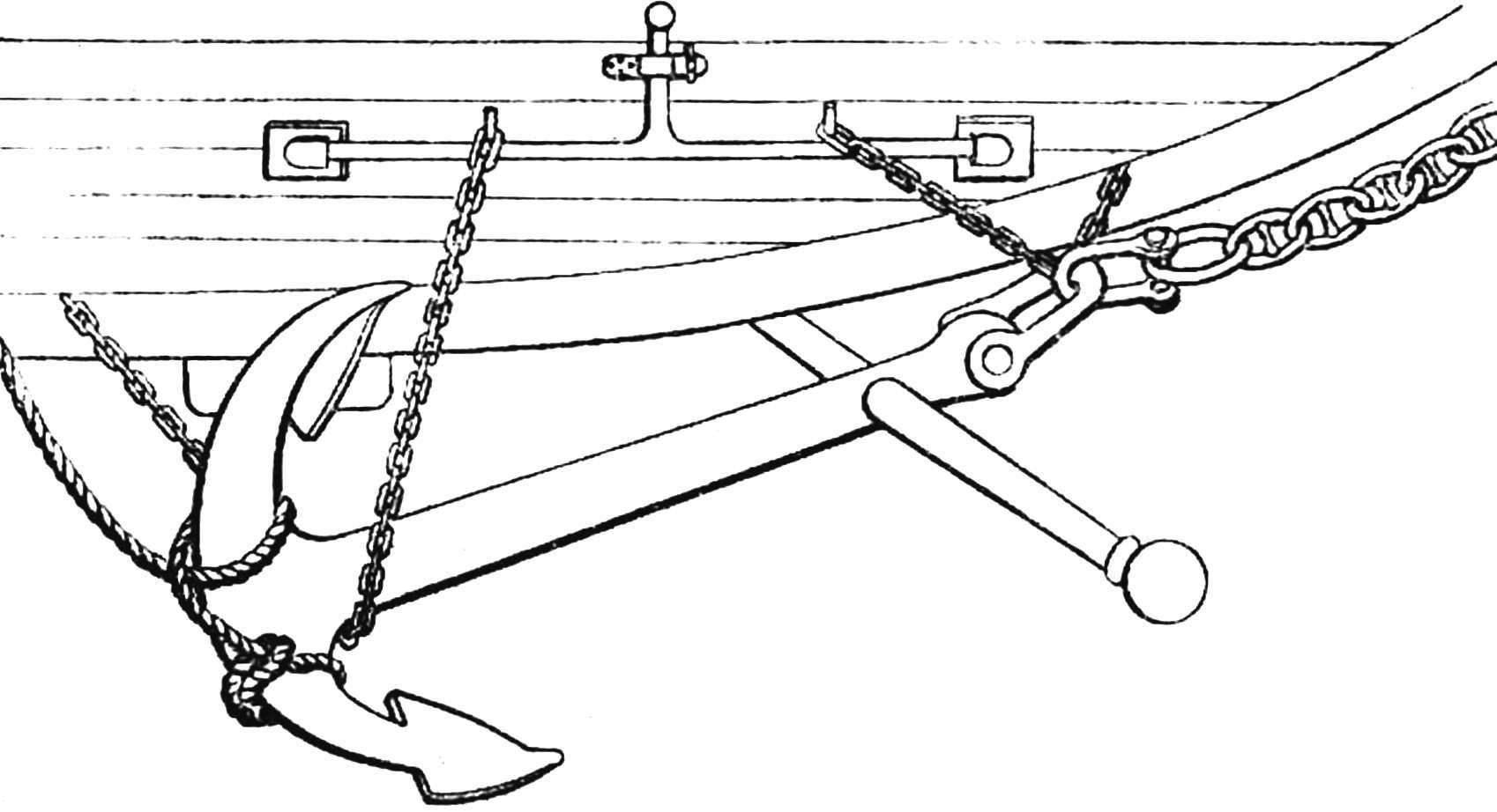 Рис. 1. Якорная машинка. Она позволила освободить одновременно и рустов и пертулишь