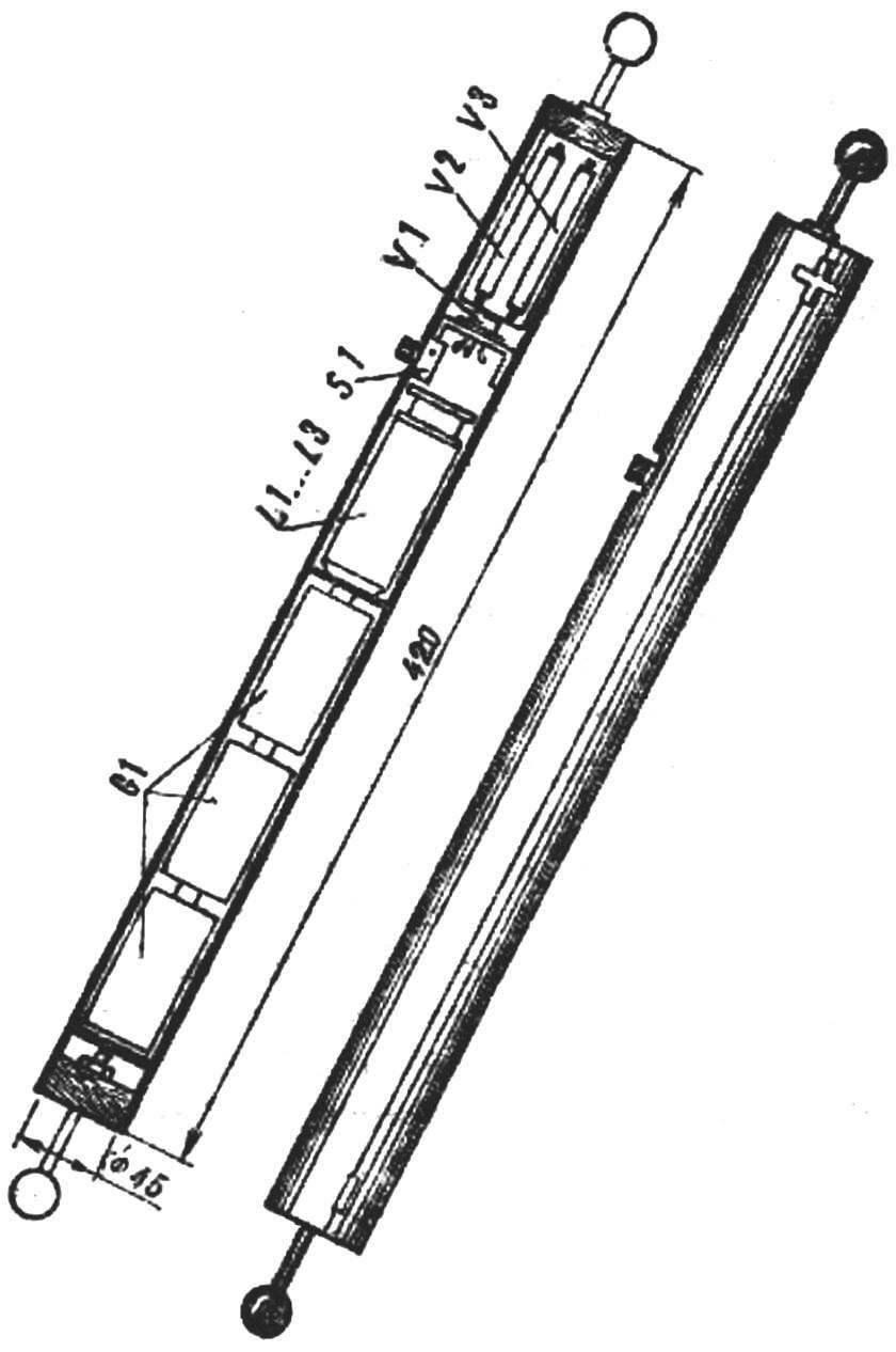 Конструкция «электронной палочки».
