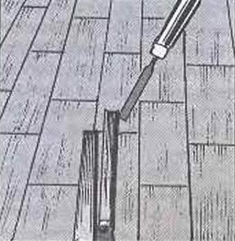 Рис. 1. Извлечение планки из повреждённого массива