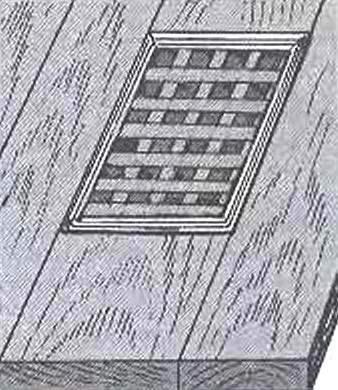 Fig. 8. Installation of ventilation grates sex