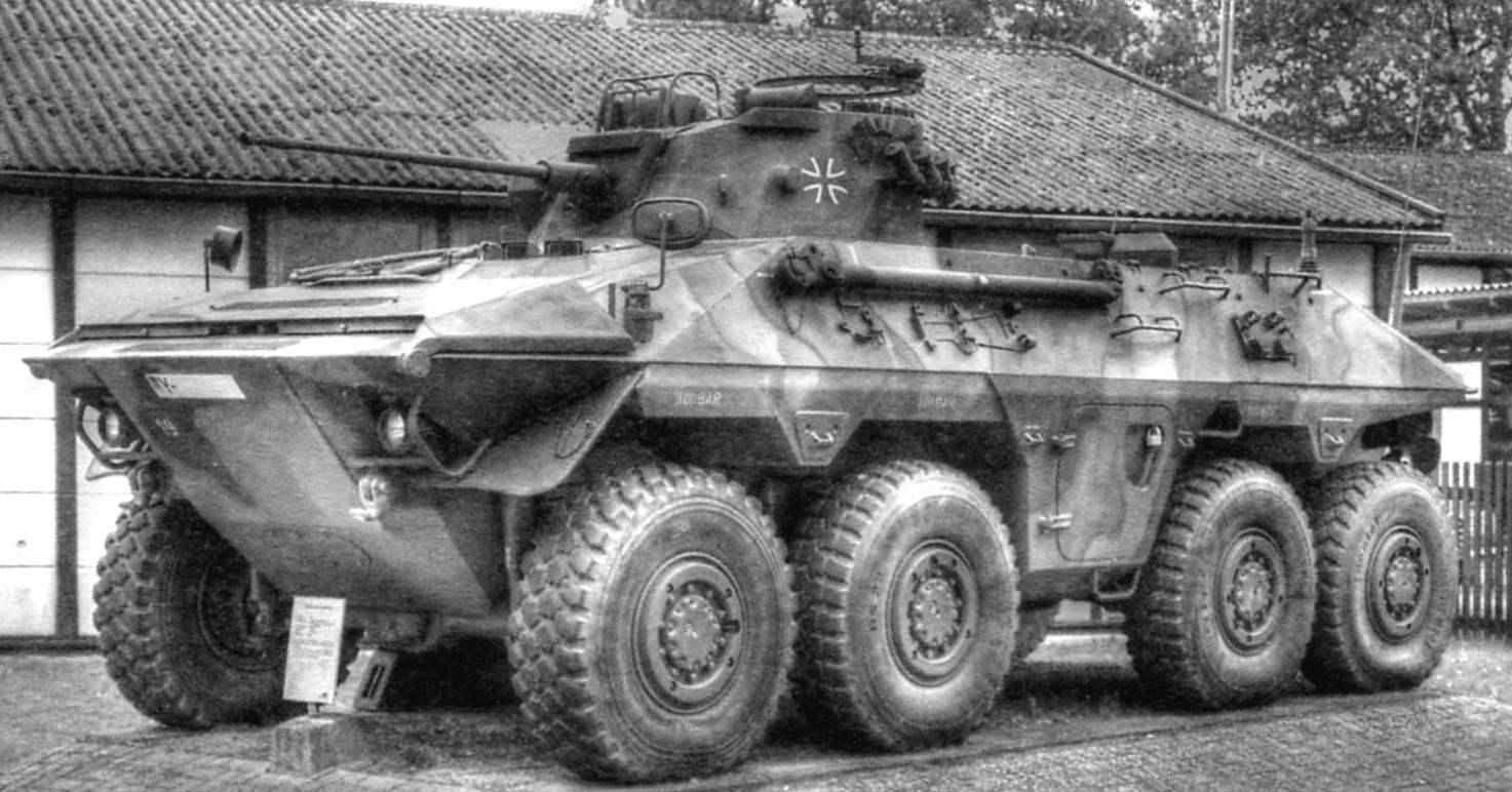 БРМ «Луке» Бундесвера. Вооружена 20-мм пушкой и 7,62-мм пулемётом. 300-сильный двигатель позволяет 20-тонной машине развивать скорость до 90 км/ч