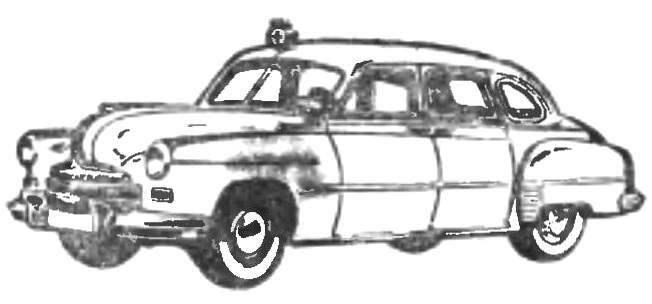 Рис. 4. Автомобиль ГАЗ-12Б для медицинской службы.