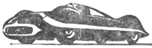 Рис. 6. «Авангард-8» — гоночный автомобиль на базе агрегатов ГАЗ-12.