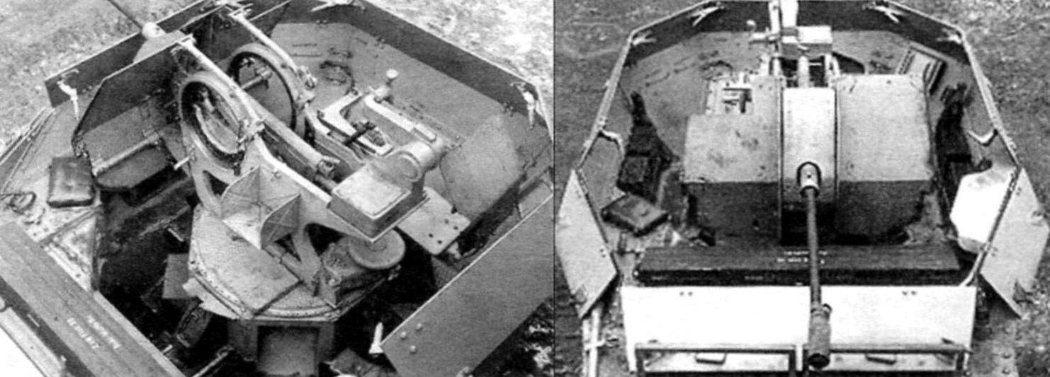 В открытой рубке танка находилась 20-мм полуавтоматическая зенитная пушка Flak 38