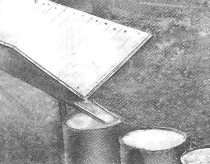 Комплект водосборника с несколькими ёмкостями