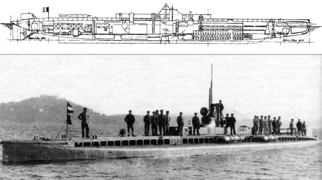 Подводная лодка «Плювиоз» (Q-51), Франция, 1908 г.