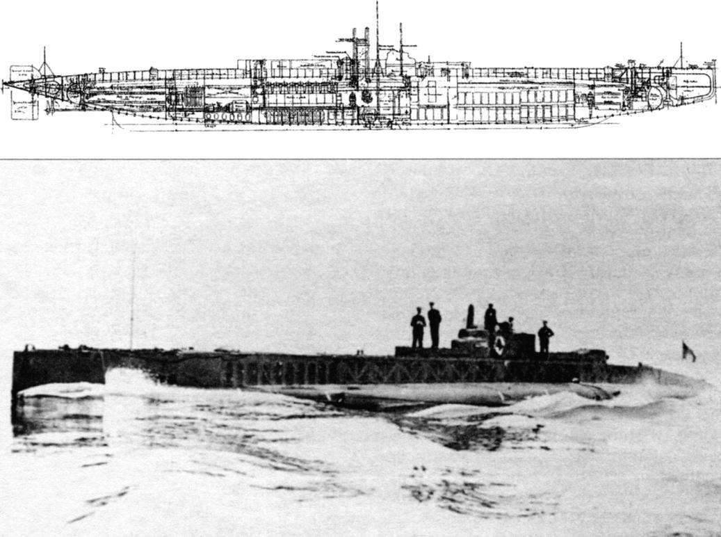 Подводная лодка «Клоринд» (Q-90), Франция, 1914 г.
