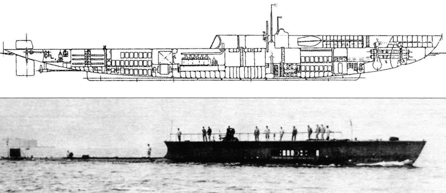 Подводная лодка «Мариотт» (Q-74), Франция, 1912 г.
