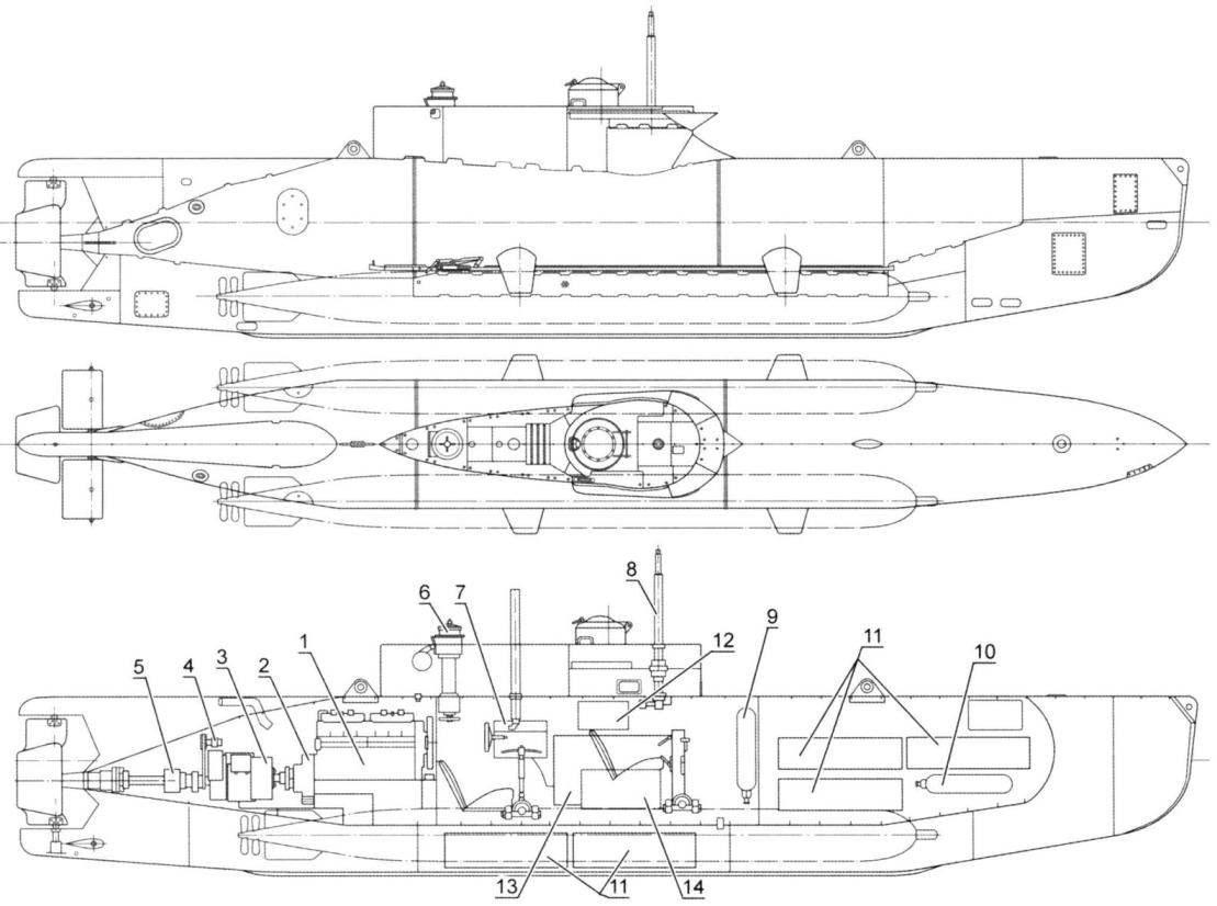 Германская подводная лодка Typ XXVII Seehund