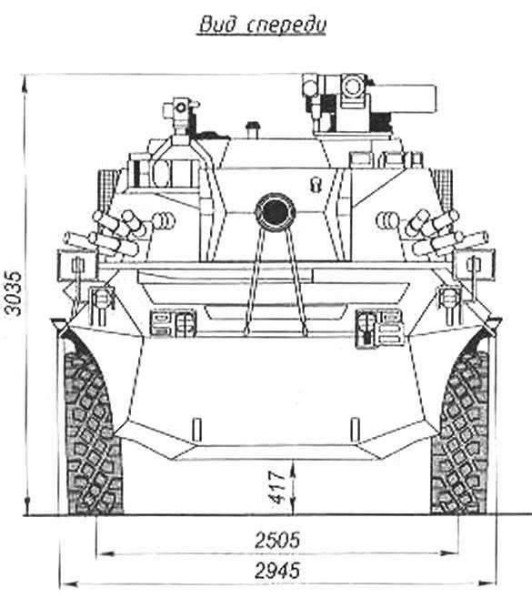 Рис. 1. Колёсная БМП «Кентавр»