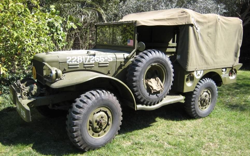 Знаменитый армейский суперджип времён Второй мировой войны Dodge WC-52 (Dodge 3/4)