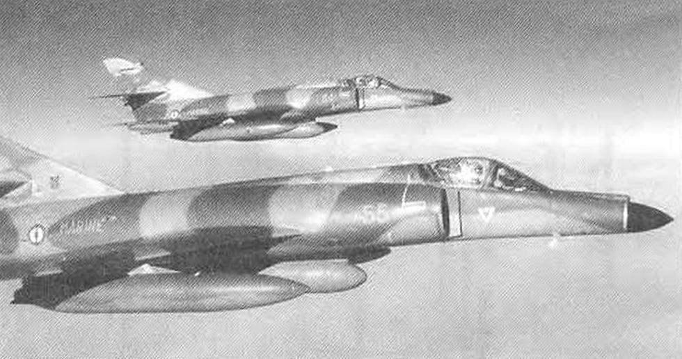 Самолёты Super Etendard в полёте