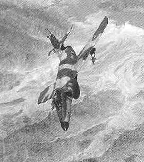 Самолет Super Etendard с двумя бомбами BGL с лазерными головками самонаведения