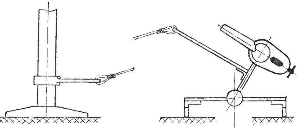 Рис. 3. Предстартовая установка модели на лед.