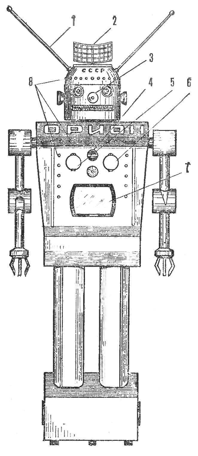 Fig. 1. The appearance of the robot